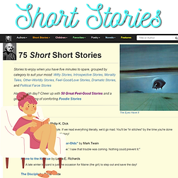 Short Stories American Literature linked from Drive Resources