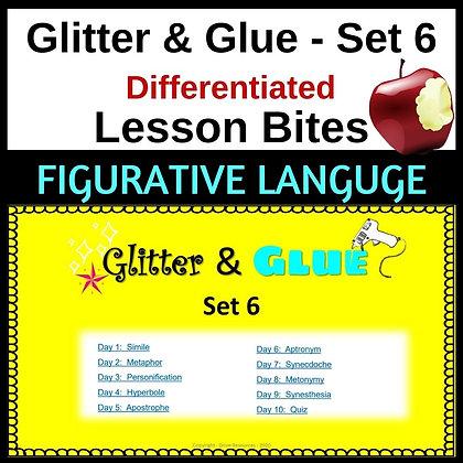 Glitter and Glue Lesson Bites - Set 6 - Figurative Language