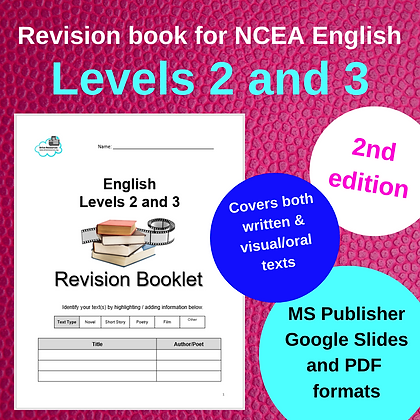 Revision Booklet - Levels 2 and 3 (Written and Visual Texts - externals)