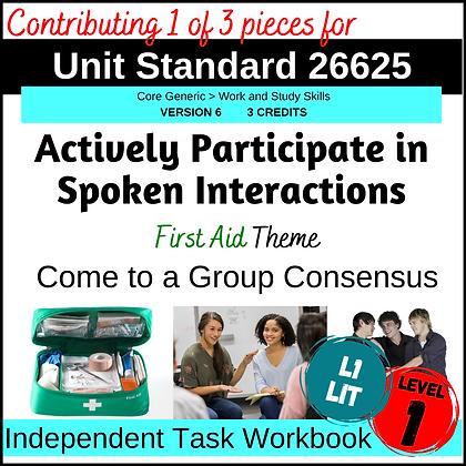 US26625 Speaking - Group Consensus (Emergency Kit)
