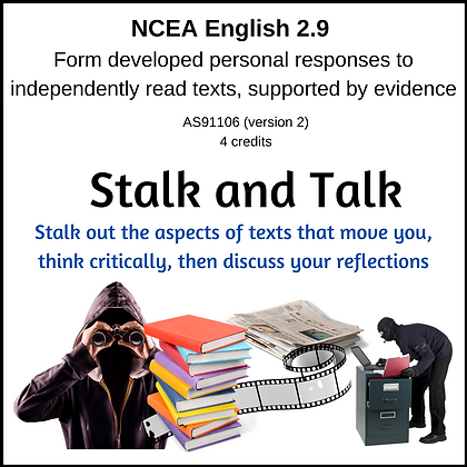2.9 Responses to Independent Reading - Stalk and Talk