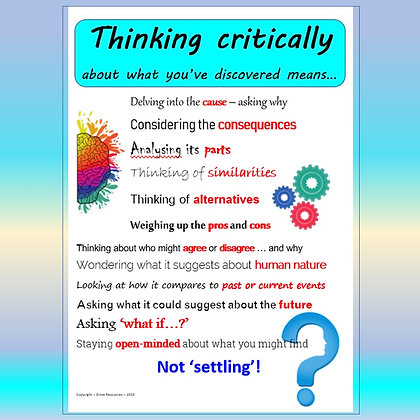 Thinking Critically - what does this mean?