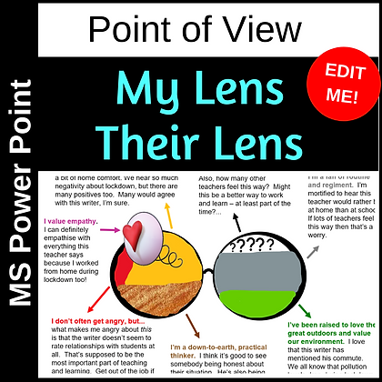 My Lens - Their Lens (How we form our points of view)