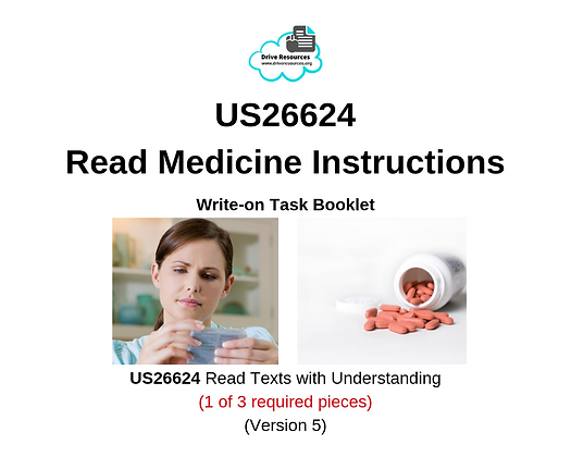 US26624 Reading - Medicine Instructions - First Aid