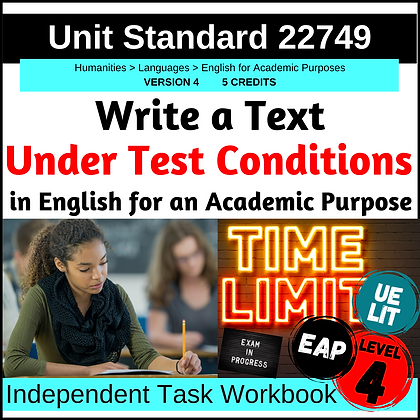 US22749 - EAP L4 - Write Text Under Test Conditions