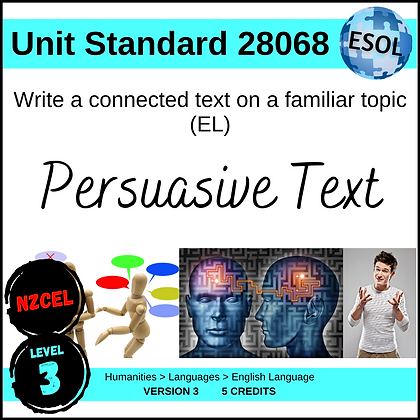 US28068 Write Connected Text (EL - Level 3)