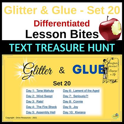 Glitter and Glue Lesson Bites - Set 20 - Text Treasure Hunt