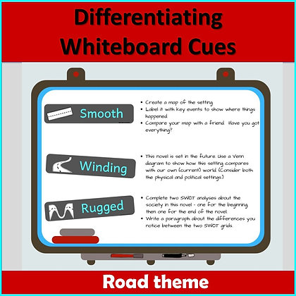 Differentiating whiteboard/wall labels - ROAD theme