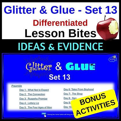Glitter and Glue Lesson Bites - Set 13 - Main Idea and Evidence