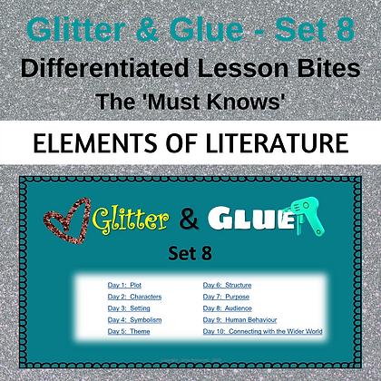Glitter and Glue Lesson Bites - Set 8 - Elements of Literature