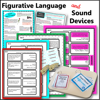Figurative Language and Sound Devices - bundle of resources and activities!