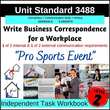 US3488 - Write Business Correspondence - PRO SPORTS EVENT