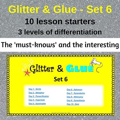 Glitter and Glue Lesson Starters - Set 6 - Figurative Language