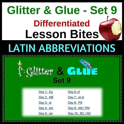 Glitter and Glue Lesson Bites - Set 9 - Latin Abbreviations