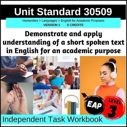US30509 - EAP L3 - Demonstrate and Apply Understanding of a Short Spoken Text