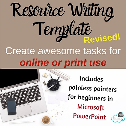 Write a Resource - Task Template
