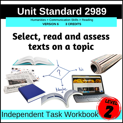 US2989 - Select, Read and Assess Texts on a Topic