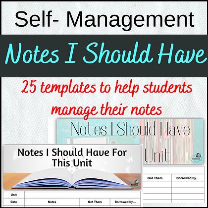 Notes I Should Have