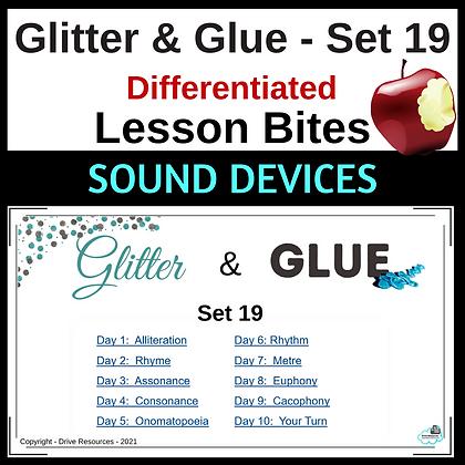 Glitter and Glue Lesson Bites - Set 19 - Sound Devices