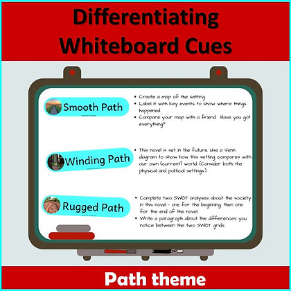 Differentiating whiteboard/wall labels - PATH theme