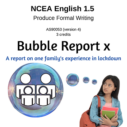 1.5 Formal Writing - Bubble Report x