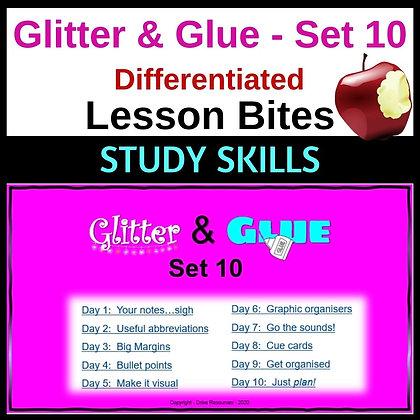 Glitter and Glue Lesson Bites - Set 10 - Study Skills