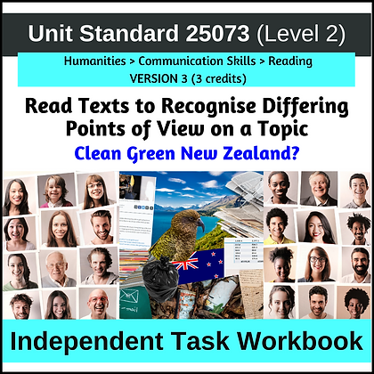 US25073 - Read Texts to Recognize Differing Points of View - NZ Environment