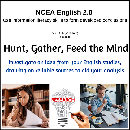 2.8 Information Literacy - Hunt, Gather, Feed the Mind