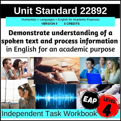 US22892 - EAP L4 - Demonstrate Understanding of Spoken Texts...