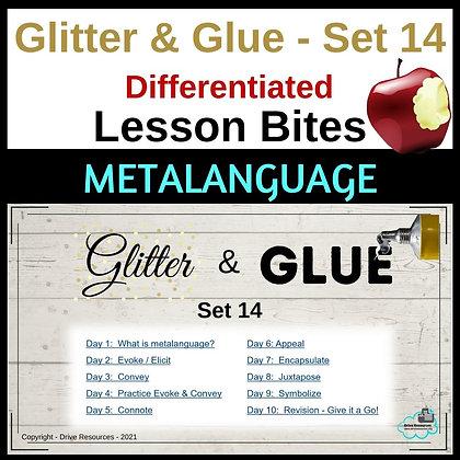 Glitter and Glue Mini Lessons - Set 14 - Metalanguage
