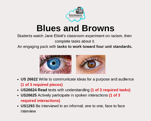 VALUE PACK - Unit Standards - Blues and Browns (Word & G.Doc)