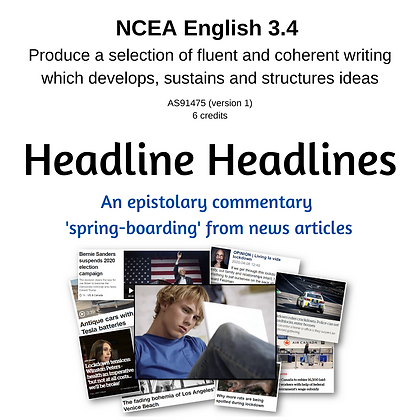 3.4 Writing - Headline Headlines