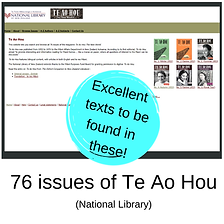 76 issues of Te Ao Hou. New Zealand Literature.  Maori authors.