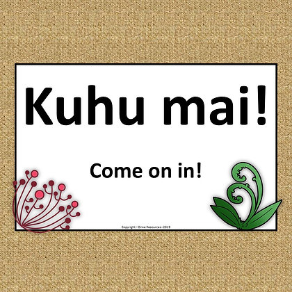 Te Reo Maori signs for English and 21st C skills
