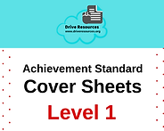 Coversheets for level 1 NCEA Achievement standards