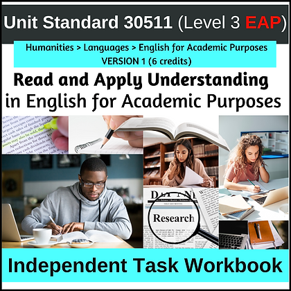 US30511 - EAP L3 - Read and Apply Understanding in English for Academic Purposes