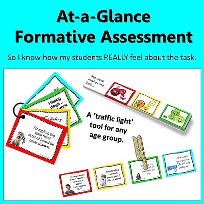 Formative Assessment Tool - Flashcards and Strips