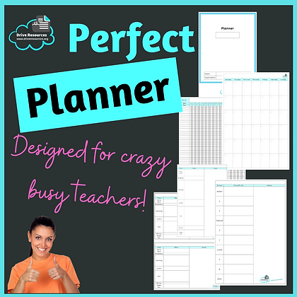 Planner - with month, Gantt chart and day planner