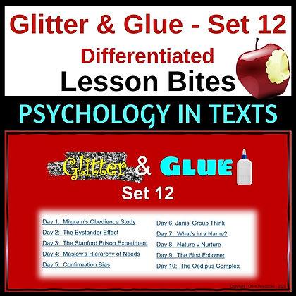 Glitter and Glue Lesson Bites - Set 12 - Psychology Bites