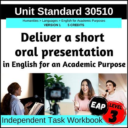 US30510 - EAP L3 - Deliver Short Oral Presentation