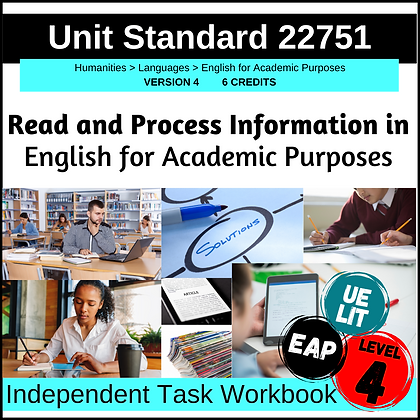 US22751 - EAP L4 - Read and Process Information in English for Academic Purposes