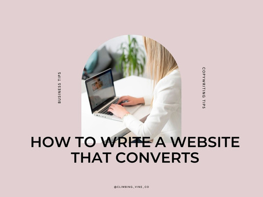 How to write a website that converts