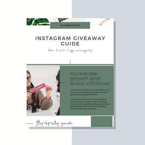 Instagram giveaway guide