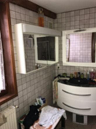 Ancienne salle de bain, DME batiment renovation complète