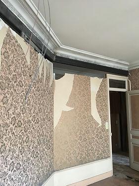 rénovation Brotteaux salon par dme batimen, entreprise générale à lyon