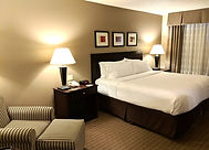 Enjoy a comfortable room at the Holiday Inn Elmira. Here we have a standard king room.