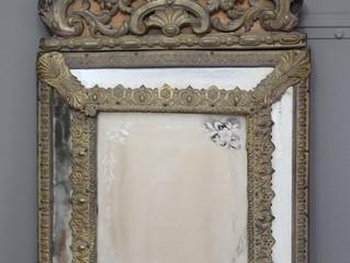 Pressed Brass Mirror Restoration (Phase One)