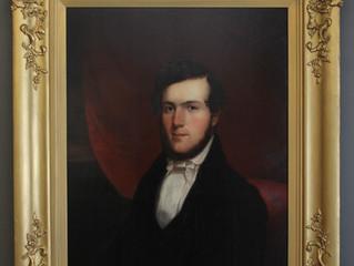 Stunning 19th Century Portrait on Walnut Panel