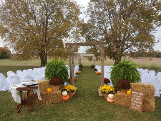 Beautiful Fall Ceremony
