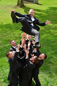 Tossin the groom